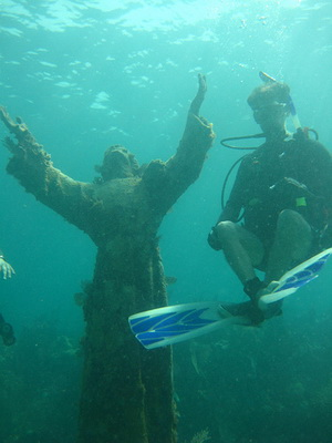 Christ of the Abyss scuba diving